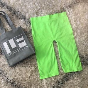 LF Neon Green Bike Shorts